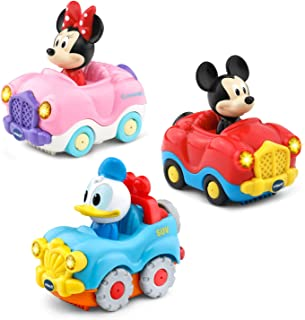 VTech 80-406500 Go! Go! Smart Wheels Disney Starter Pack with Mickey Mouse, Minnie Mouse Convertible and Donald Duck SUV, ...