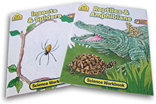 School Zone Science Workbook Bundle - Insects & Spiders and Reptiles & Amphibians