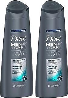 Dove Men + Care Dermacare Scalp 2 in 1 شامپو + تهویه مطبوع، دفاع شوره سر، 12 اونس (بسته 2)