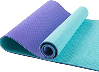 DREAM HORSE Eco Friendly TPE Yoga Mat Non-Slip Workout Mat Non-Slip Exercise & Fitness Mat with Carrying Strap for Yoga Pi...