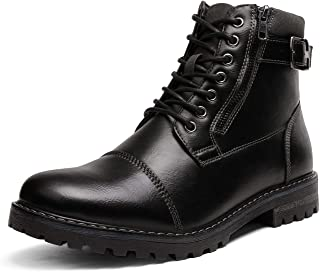 Bruno Marc Men`s Motorcycle Combat Oxford Boots