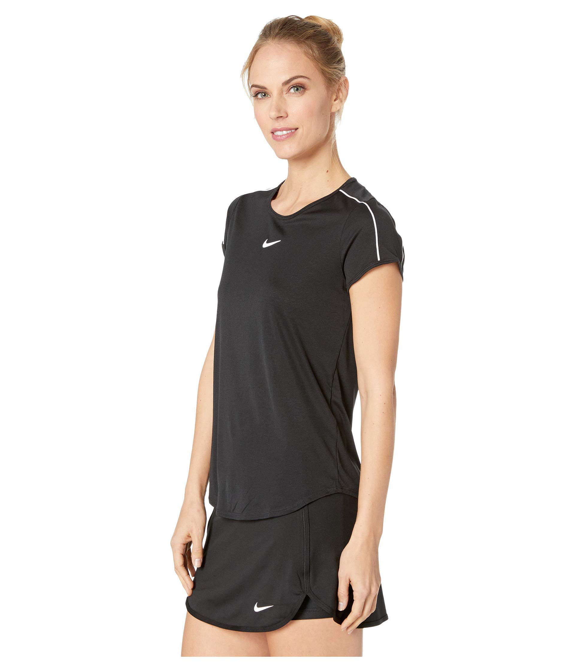 white Nike black Court white Top Dry Black wBT74q