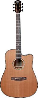 Teton Dreadnaught Cutaway Acoustic Electric Solid Cedar Top, Solid Mahogany Back and Sides STS205CENT