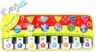 Coolplay® Piano Keyboard Play Mat, Learn Singing Gym Carpet Touch Play Mats for Kids Baby,28x 11 Inches