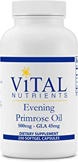 Vital Nutrients - Evening Primrose Oil - Cold-Pressed Oil That Contains GLA, an Essential Omega-6 Fatty Acid - 500 mg - 250 Softgels per Bottle