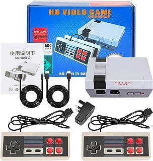 LINGSFIRE Console de jeu Mini TV familiale classique HDMI Jeux rétro de 600 jeux Mini console de jeux avec double contrôle...