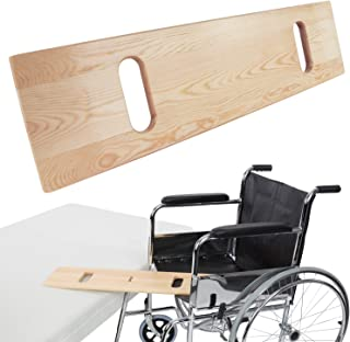Vive Transfer Board - Patient Slide Assist Device for Transferring Patient from Wheelchair to Bed, Bathtub, Toilet, Car - Bariatric Heavy Duty Wooden Sliding Transport Platform (30