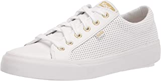 Keds Women's Jump Kick Sneaker Sneaker, White/Gold, 9 Medium