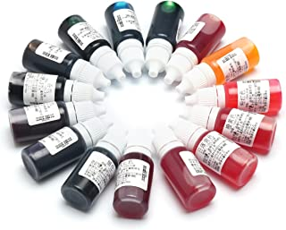 Hitommy 15 Color Epoxy UV Resin Coloring Dye Colorant Pigment Mix Color for DIY Hobbiers