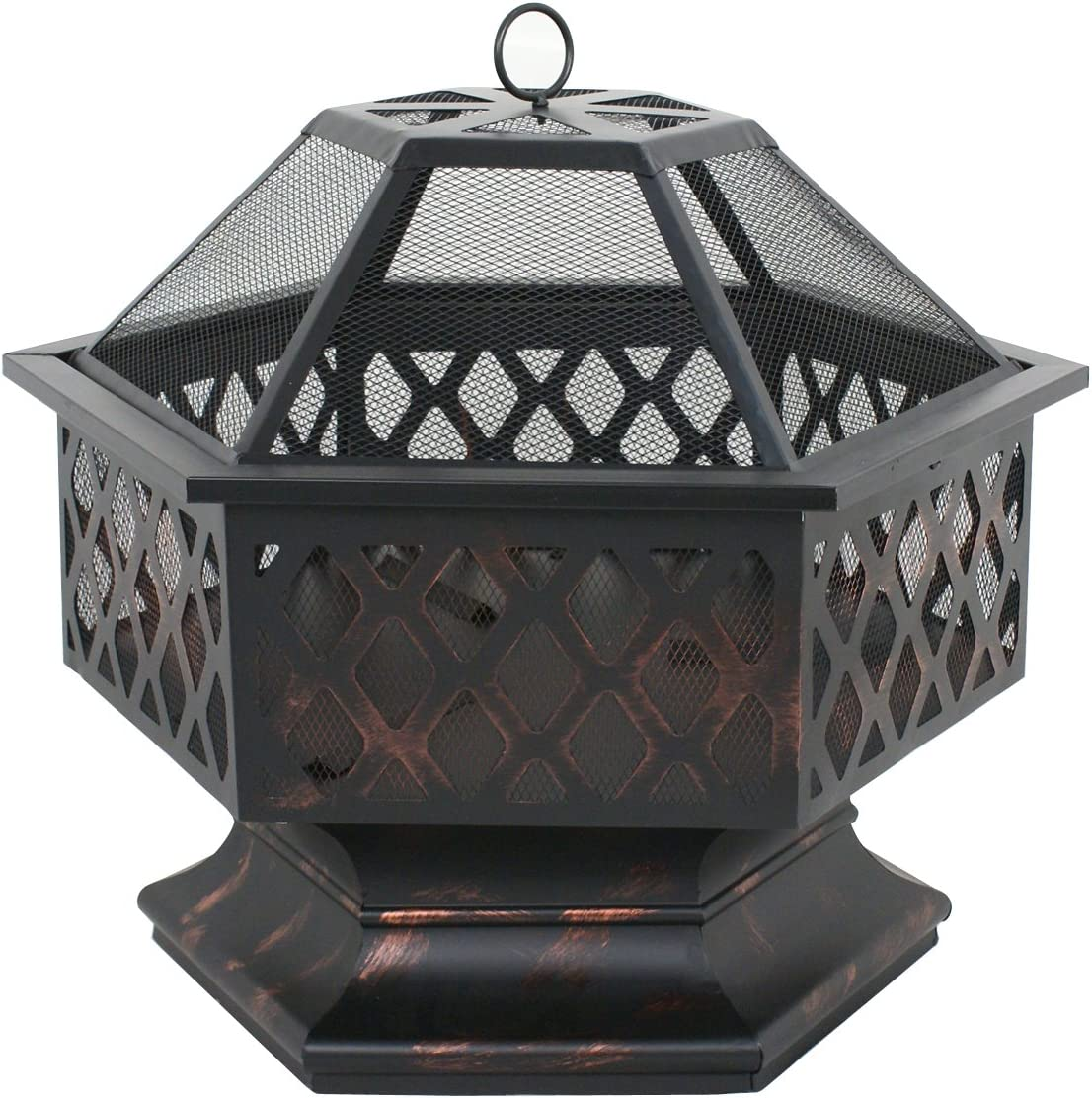 Oteymart 24 Inches Hex Shaped Steel Outdoor Pit Ranking TOP11 Metal Max 54% OFF Firep Fire