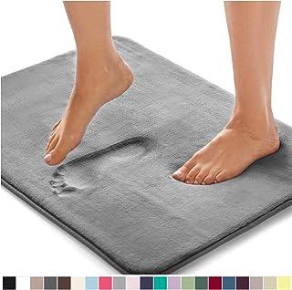 Gorilla Grip Original Thick Memory Foam Bath Rug, 30x20, Cushioned Soft Floor Mats, Absorbent Premium Bathroom Mat Rugs Rugs, Machine Washable, Luxury Plush Comfortable Carpet for Bath Room, Graphite