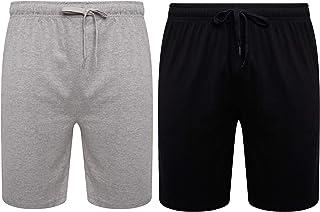 Sock Stack Mens Lounge Shorts Pyjama Bottoms Jersey PJ Short for Men 100% Organic Cotton Pajama Loungewear Pack of 2
