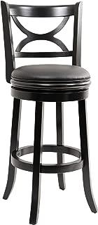 Boraam Florence Bar Height Swivel Stool, 29-Inch, Distressed Black