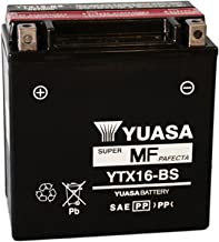 12/V//14ah Batteria YUASA ytx16-BS dimensioni: 150/X 87/X 161 per Triumph Tiger 800/XR ABS Anno di costruzione 2016