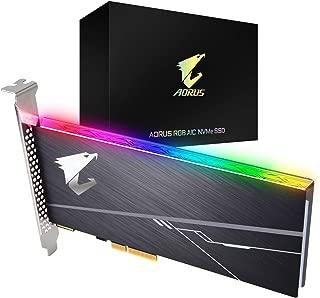 Gigabyte Tarjeta Adicional AORUS RGB Nvme de 1 TB de Alto Rendimiento, disipador de Calor Integrado, Toshiba 3D NAND, búfer de caché DDR, SSD GP-ASACNE2100TTTDR