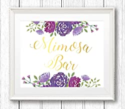 Arvier Mimosa Bar Sign Mimosa Bar Printable Bridal Shower Floral Mimosa Sign Bridal Shower Sign Printable Bridal Shower Decor Framed Wall Art