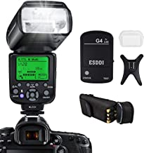 Camera Flash for Canon,DSLR Camera,E-TTL 1/8000 HSS GN58,Multi,ESDDI Wireless Camera Flash Set Include 2.4G Wireless Flash Trigger,Cold Shoe Base Bracket and Accessories