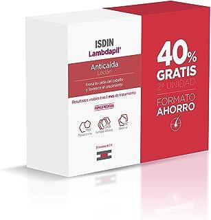 ISDIN Lambdapil Loción Anticaída | 40% Gratis 2ª Unidad | Aumenta la densidad del cabello | 2x20 Monodosis de 3ml
