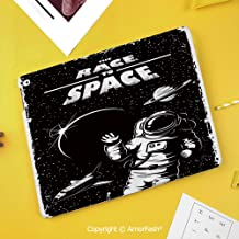 Case forSamsungGalaxy TabS410.5 T830 T835 T837 Kids Safe Shockproof,Astronaut,The Race to Space Retro Image with Space Crafts Planets Astronaut vs Cosmonauts,Black White