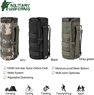 Sports Water Bottles Pouch Bag Tactical Molle Water Bottle Pouch Military Drawstring Water Bottle Holder Mesh Water Bottle Carrier