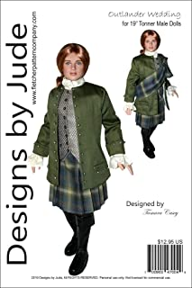 Designs by Jude Outlander Wedding Jamie Doll Clothes Sewing Pattern for 19