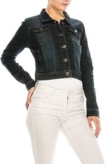 Women 4 Pockets Denim Jean Jacket