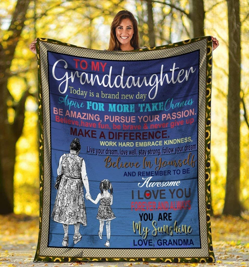 Blanket Gifts With Size 60x80 Grandma mart Love My I Granddaughter Max 45% OFF To