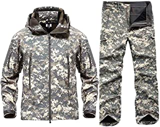 CFDGHIRY Men Waterproof Army Combat Uniform Tactical Pants Camouflage Hunt Clothes