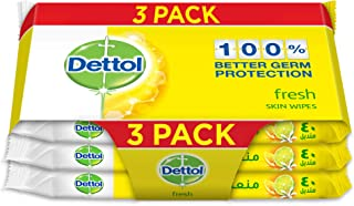 Dettol Fresh Antibacterial Skin Wipes 40 Count 2+1 Free