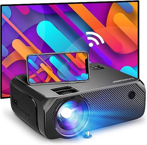 Bomaker Projecteur sans Fil WiFi, 6000 Résolution Native 1280 x 720P Projecteur de cinéma à la Maison Mini Portable P...