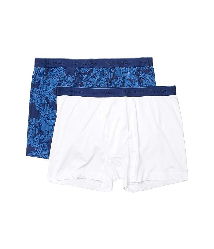 Tommy Bahama  Boxer Briefs 2-Pack (Indigo Print) Mens Underwear