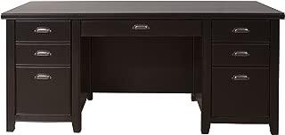 Martin Furniture Tribeca Loft Double Pedestal Executive Desk, Black