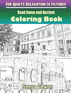 Road home and Ancient Coloring Books For Adults Relaxation 50 pictures: Road home and Ancient sketch coloring book Creativ...