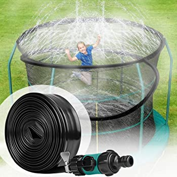 Amazon Com Moiso Trampoline Sprinklers For Kids Trampoline Spray Hose Water Park Fun Summer Outdoor Water Game Toys For Boys And Girls 49 2 Feet Toys Games