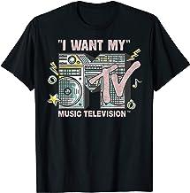 MTV I Want My Retro Boombox Graphic T-Shirt