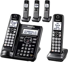 PANASONIC Cordless Phone System with Answering Machine, One-Touch Call Block, Enhanced..