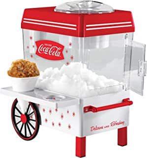 Nostalgia SCM550COKE Coca-Cola Countertop Snow Cone Maker Makes 20 Icy Treats, Includes 2 Reusable Plastic Cups & Ice Scoop – White/Red