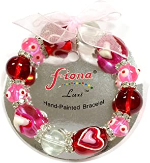 hand painted bead bracelets