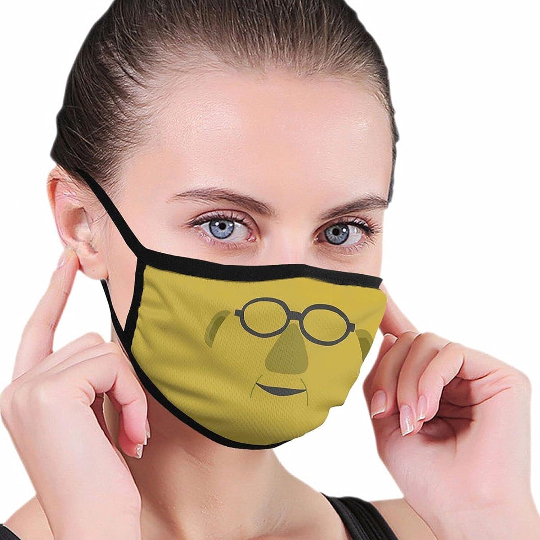 Dr Bunsen Honeydew Cloth Face Mask, Reusable Windproof, Washable, Adjustable, Printed Turban, Unisex, Unisex Face Covering Balaclava One Size Black
