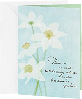 Hallmark Sympathy Greeting Card (White Flowers)