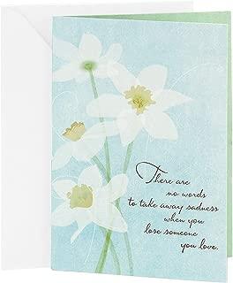 Hallmark Sympathy Card (White Flowers)