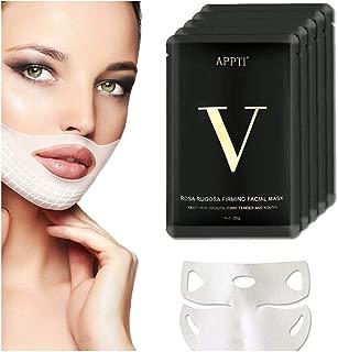 5Pcs Miracle V-Shaped Slimming Mask, V Line Face Lift and Double Chin Reducer Intense Lifting Layer Mask for Chin Up & V Line, Double Chin Mask-V Lifting Chin Mask