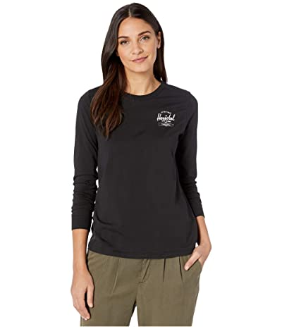 Herschel Supply Co. Long Sleeve Tee (Classic Logo Black/White) Women