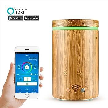 Konesky Bamboo Wi Fi Smart Essential Oil Diffuser APP Remote