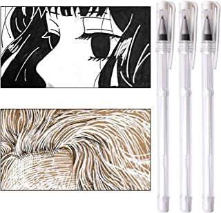 White Gel Pen 3 Pieces Gel Ink Pens Medium Point 0.7mm Highlighter Markers Pen for Dark Paper Adult Coloring Design Daily Greeting Card Sketching Drawing Manga Marking Art Supplies qianshan