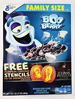 General Mills Halloween Limited Edition Boo Berry Frosted Marshmallows Family Size Cereal - 17oz