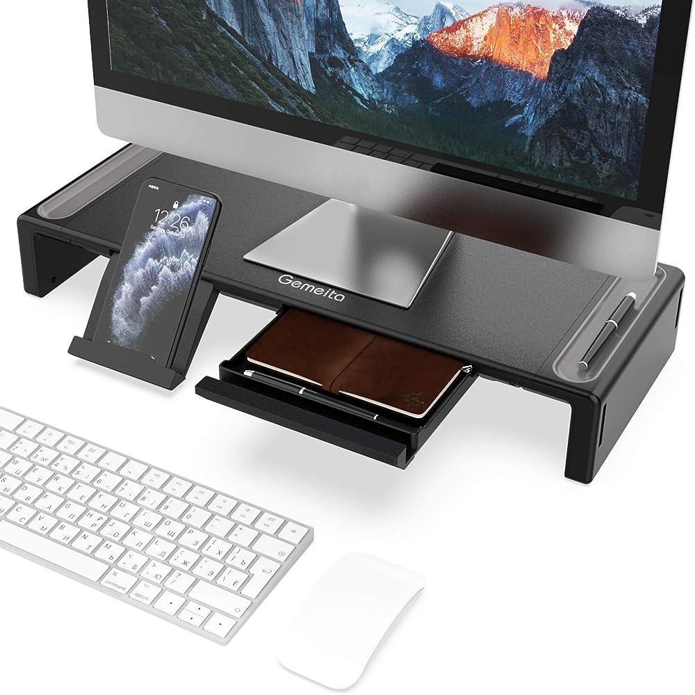 Gemeita, supporto per scrivania, per alzare monitor GM04
