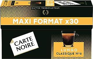 Carte Noire Café Lungo Classique N°6 - 30 capsules compatibles Nespresso®*