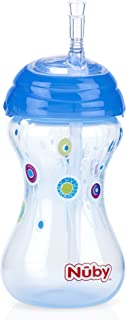 Nuby Active Sipeez Clik-It Flex Straw With Cover 300 ml 12m+ Blue - 10110281