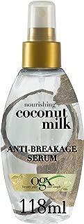 OGX Hair Serum, Nourishing+ Coconut Milk, Anti-Breakage Serum Spray, 118ml